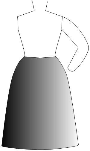 kosher a-line skirt