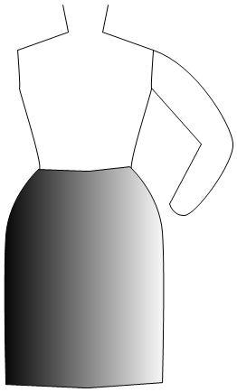 not tznius straight skirt